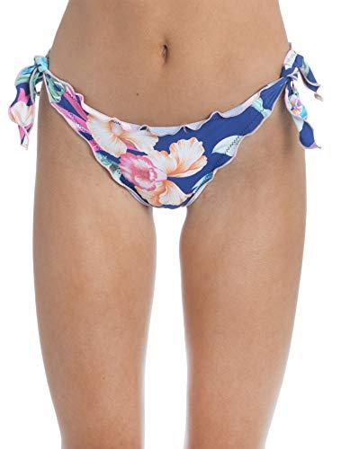 Hobie Women's Tie Side Hipster Pant Bikini Bottom, Multi//Island Floral, XS