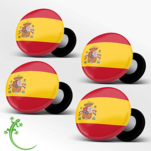 RaceBibUp Portadorsales magnéticos para la fijación del número de Carrera Ciclismo (Bandera española)
