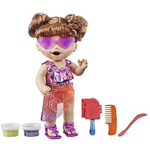 Baby Alive Sunshine Snacks Doll, Eats and Poops, Summer-Themed...
