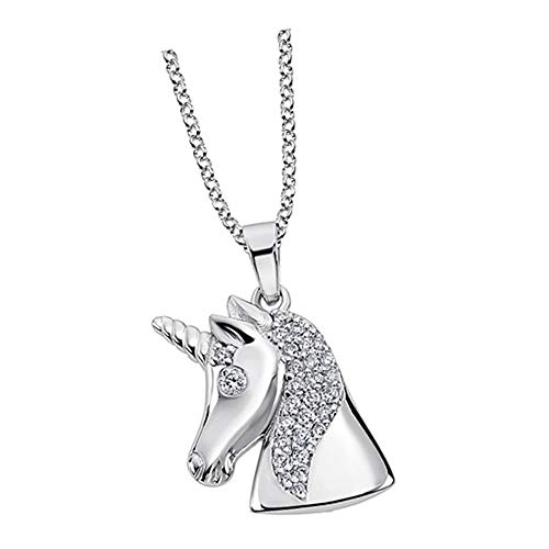 Lotus Silver Collar de unicornio LP1965-1/1, circonita, plata 925 JLP1965-1-1, collar de plata