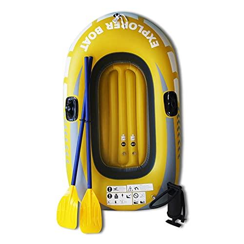 LANGTAOSHA Kayak Inflable para Niños, Kayak Inflable De PVC para 1 Persona con Remos Y Bomba De Mano, Barco De Remo En Canoa para Pesca A La Deriva