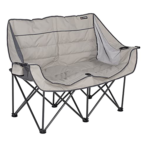 Lippert Double-Wide Padded Camping Sofa with Carry Bag