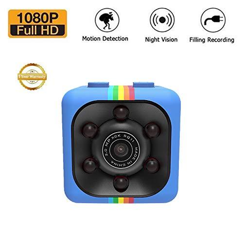 Sansnail Mini Kamera SQ11 SQ8 SQ9 versteckte Kamera HD Camcorder HD Nachtsicht Mini Cam 1080P Sport Mini DV Voice Video Recorder (blau)