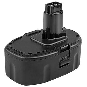 ARyee 6.0Ah Lithium-Ion Replacement Battery for Dewalt 18 Volt XRP Ni-Cad Battery DC9096 DC9098 DC9099 DE9039 DE9095 DE9096 DE9098 DW9095 DW9096 DW9098 DE9503 DC9182 Batteries Cordless Power Tools  1