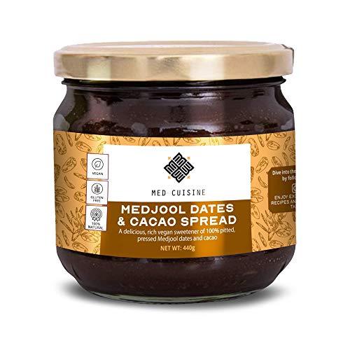 Med Cuisine Date Paste with Cocoa (440GR) - Ett rikt naturligt sötningsmedel tillverkat av gropade och pressade dadlar - vegan, växtbaserad, utan konserveringsmedel, rik på protein och kosher