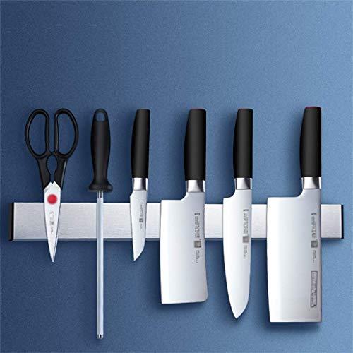 ZJDK Bloque de Cuchillos Soporte para Cuchillos montado en la Pared Estante magnético Organizador de Cocina Universal Sin Cuchillos Ahorre Espacio Instalación de Pegamento 60cm