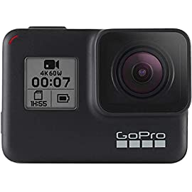 GoPro Hero7 Black — Waterproof Action Camera with Touch Screen 4K Ultra HD Video 12MP Photos 720p Live Streaming… 7 HyperSmooth: Get gimbal‑like stabilization—without the gimbal. HERO7 Black corrects for camera shake to deliver insanely smooth footage TimeWarp: Capture super stabilized time lapse videos while you move about a scene. Increase the speed up to 30x to turn longer activities into shareable moments Live streaming in 720p: Share while you're there. Live stream in 720p on social, get HyperSmooth stabilization as you broadcast via the GoPro app and save footage to your SD card to check out later