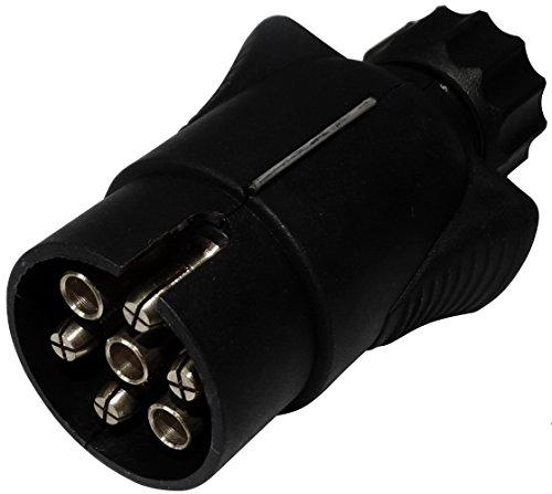 Aerzetix: Fiche - Mâle - 7Pin - Prise - Connecteur - de Remorque - 7 Broches - 12V - 6mm - Attelage - Faisceau - Câble - Câblage - Feux arrières stop - C12376