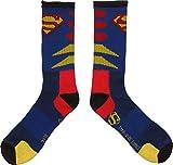 Toy Zany DC Comics Superman Logo Mens Blue Crew Socks