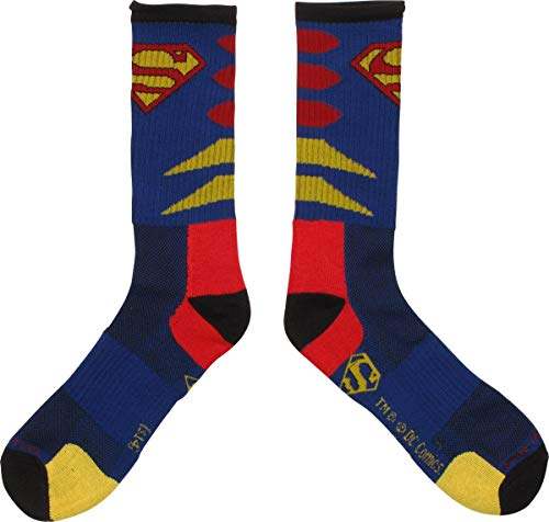 DC Comics Superman Logo Mens Blue Crew Socks