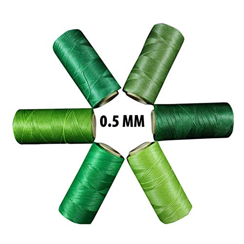 Fil ciré Linhasita 0,5 mm. Gamme Couleur Vert Pistache