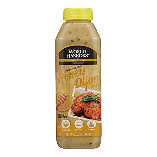 World Harbors Honey Dijon Sauce,16-Ounce Bottles (Pack of 6)
