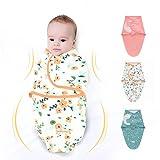 3PC Swaddle Blanket,Swaddle Wrap Manta Envolvente para Bebé,Swaddle Wrap 100%...