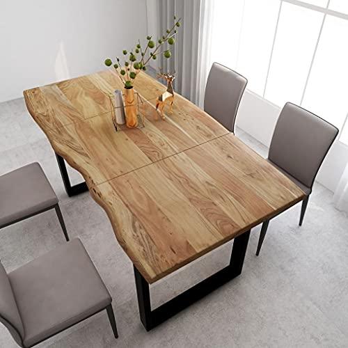 vidaXL Madera Maciza Acacia Mesa de Comedor Consola Extensible Muebles Cocina Decorativo Hogar Multiusos Auxiliar Salón Sala de Estar