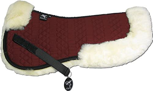 Engel Gerhommey Demi-Chabraque DE en Peau de Mouton Couleur Coton Rouge (Sakis 2) Combinez-Vous avec 12 Coleur de Peau de Mouton