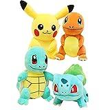 Pikachu、Charmander 、Squirtle 、Bulbasaur-...