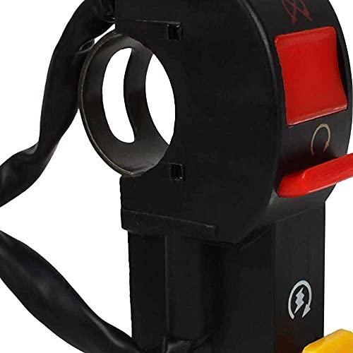 qinjun Interruptor de manillar de la motocicleta Land LTKG-03 Luz de encendido y apagado del faro