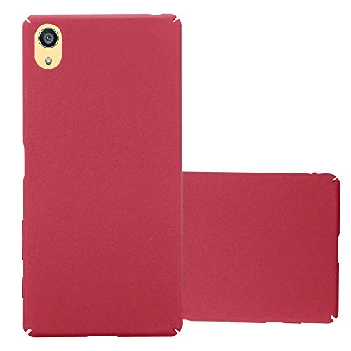 Cadorabo Funda para Sony Xperia Z5 Premium en Frosty Rojo - Cubierta Protección de Plástico Duro Super Delgada e Inflexible con Antichoque - Case Cover Carcasa Protectora Ligera