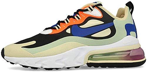 Nike W Air Max 270 React, Scarpe da Corsa Donna, Multicolore (Fossil/Hyper Blue/Black/Pistachio Frost/Fire Pink/Hyper Crimsont), 40 EU