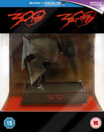 300 / 300: Rise of an Empire Collection - 3-Disc Box Set with Spartan Helmet Resin Statue ( ) (3D & 2D) (+ UV Copy) [ UK Import ] (Blu-Ray)