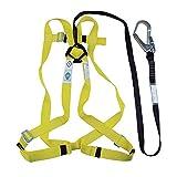 YYQQ Arneses de Escalada,arnés de Seguridad de Escalada para Hombre Mujer Alpinismo Cuerda Equipo Escalada Ajustable al Aire Libre Rappel cinturón Seguridad de Rescate