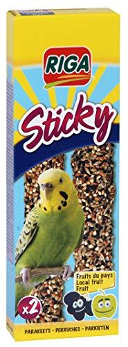 Riga 2 Sticky Stangen mit Früchten für Sittiche, 5er Pack (5 x 60 g)