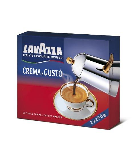 Lavazza Miscela di Caffè Crema e Gusto, 2 x 250g