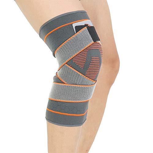 3D-Strickkompressionsverband Knieorthese Basketball Wandern Radfahren Kniestütze schützend Sport Kniepolster (Size : L-XL)