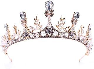 Bridal wedding tiara crown headband birthday banquet crystal crown wheat ear headdress