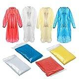 JKKJ Poncho de lluvia para adultos – Impermeable de EVA reutilizable con capucha portátil impermeable para hombres mujeres camping, senderismo, al aire libre (color al azar)