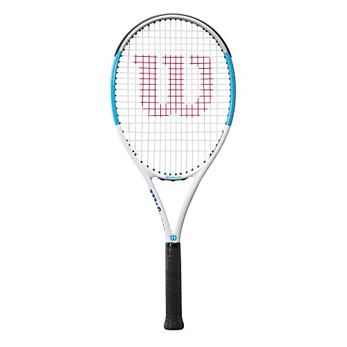 Wilson Tennisschläger, Ultra Power Team 103, Freizeitspieler, Aluminium/Fiberglas, schwarz/blau, WR018310U2