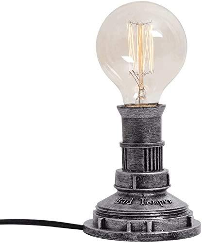 Tafellamp bureaulamp Light Retro ijzer industrieel waterleiding bureaulampen, nostalgisch landelijk dimbaar nachtlampje, klassieke cafe bar tentoonstellingszaal galerie decoratieve verlichting Tabel D