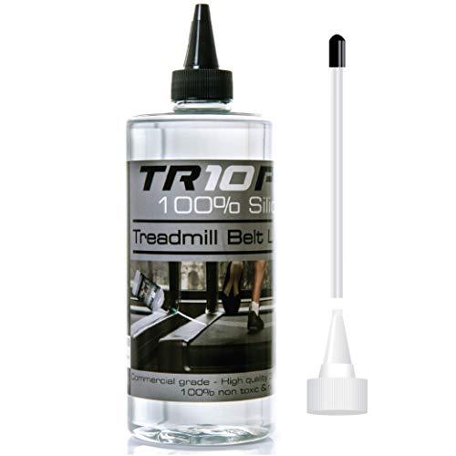 TR10 silicone loopband-smeerolie – gemakkelijk aan te brengen smeermiddel met handige applicator – levensverlenging voor alle loopbanden. Houd je loopband stil en soepel.