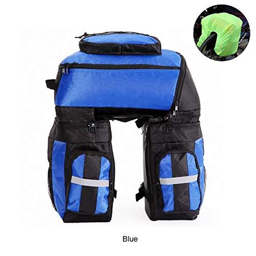 Z-Y Fietstas Waterbestendig berg 65L fietstas Mountain Bike Rack Bag 3 in 1 Multifunctionele Fiets fietstas Fietsen Rear Seat Trunk Bag fietsaccessoires #z (Color : Blue)