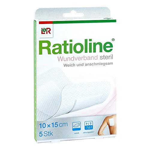 RATIOLINE Wundverband 15x10 cm steril 5 St