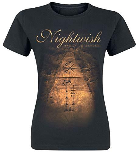 Nightwish Human. :||: Nature. Frauen T-Shirt schwarz S 100% Baumwolle Band-Merch, Bands
