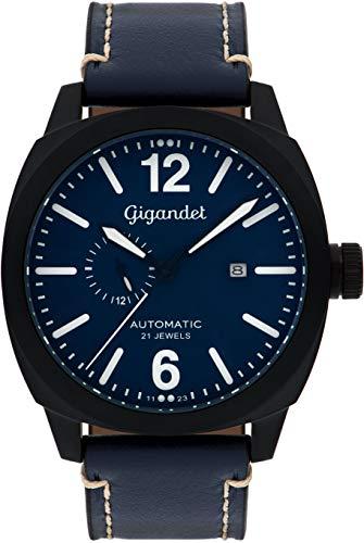 Gigandet G16-005 - Reloj para Hombres, Correa de Cuero Color Azul