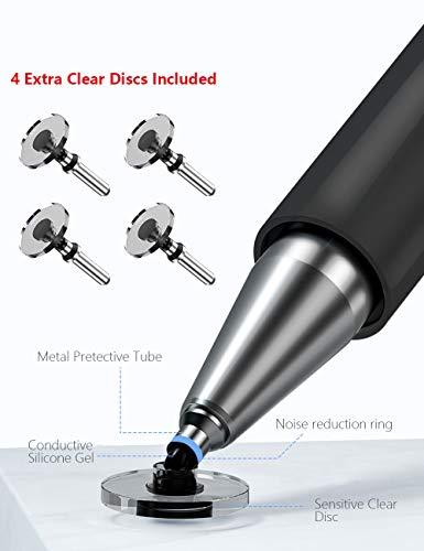 Stift Stylus Eingabestift Pen Pencil Touchstift Kompatibel Für Apple iPad Pro Mini Air Tablets Touchscreen iPhone Surface Präzision Kapazitive Laptop Tablet Disc (Black)