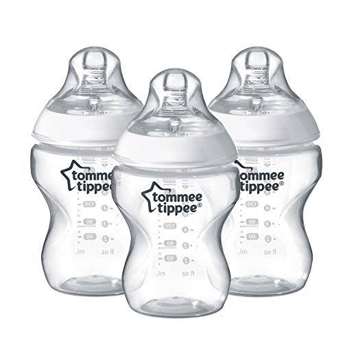 Tommee Tippee Closer to Nature Biberon, 260 ml, Trasparente, 3 Pezzi