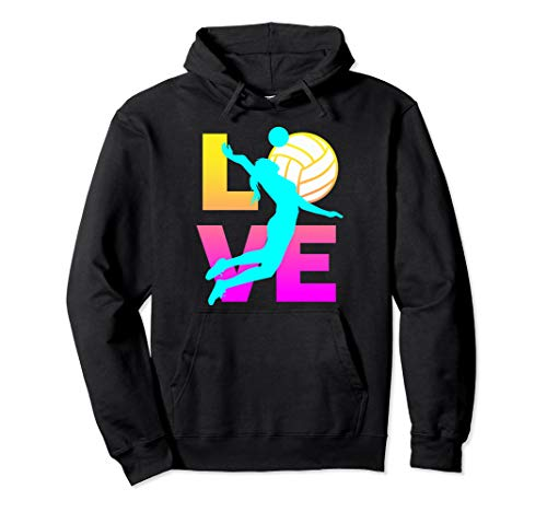 LOVE Volleyball Teen Girls Women Pullover Hoodie