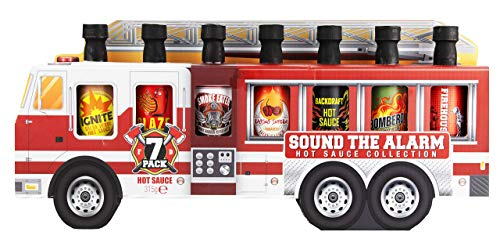 Modern Gourmet Foods, Set regalo Assaggi Salsa Piccante in Camion dei Pompieri, set di 7 pezzi, 45 grammi ciascuno