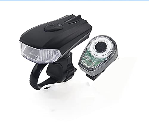 CVBNG Luces de Bicicleta Inteligentes, Luces Delanteras USB Impermeables y Luces traseras de Advertencia. para Equipamiento de Bicicleta(Luz Ovalada)