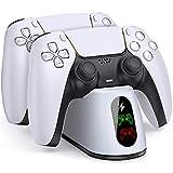 BEBONCOOL PS5 Ladestation, PS5 Controller Ladestation mit LED Anzeige Schnelllade Schutzchip für DualSense Ladestation, PS5 Ladestation Controller Stand Zubehör für Playstation 5 Wireless Controller