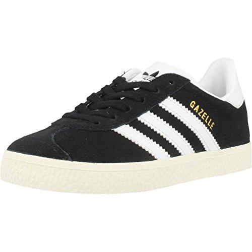 adidas Gazelle, Zapatillas Unisex Niños, Negro (Core Black/Ftwr White/Gold Metallic), 35 EU