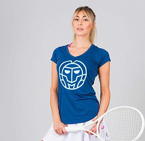 BIDI BADU Damen T-Shirt-Ulka Lifestyle tee-Dark Blue, GRÖßE:S Camiseta, Mujer, Azul, Small