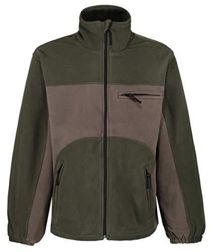 Deerhunter Shellbrook wasserdichte Fleece-Jacke, zweifarbig, Grün, grün, 38