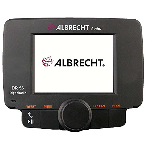 Albrecht DR 56 Car Digital Black radio - Radios (Car, Digital, DAB,DAB+,FM, 6.1 cm (2.4'), Black, 92 mm)