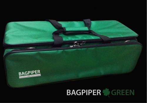 Bagpiper groene bagpipe koffer