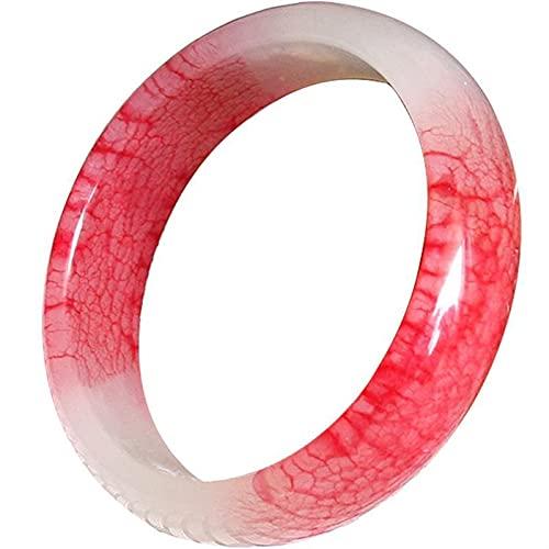 YZDKJ Producto de Jade Natural Xiuyu Pollo de la Sangre de la Sangre de la Moda Exquisita Pulsera de Las Mujeres (Gem Color : S 56-57mm)