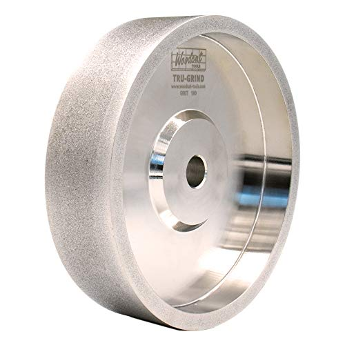 "Woodcut Tools Tru-Grind 6"" CBN Grinding Wheel, 180 Grit, 1.0"" Wide, 1/2"" Bore, for Sharpening High Speed Steel Woodturning Tools"